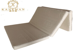 camping mattress with three folding