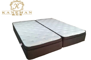 Split pocket spring mattress for hotel