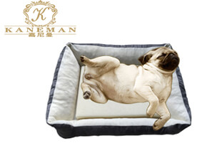 Cooling gel memory foam pet mattress