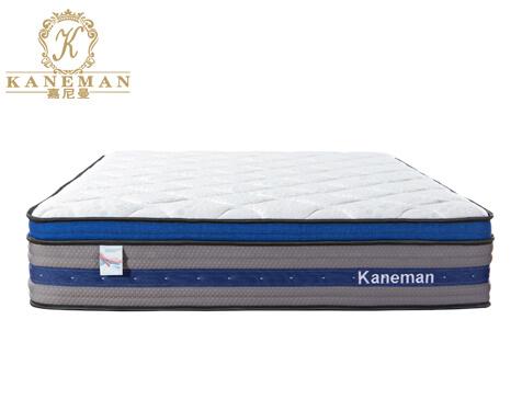 Euro top compressed pocket spring mattress