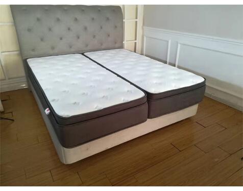 Split pocket spring mattress for hotel
