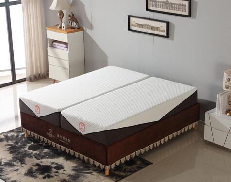 split cooling gel memory foam mattress