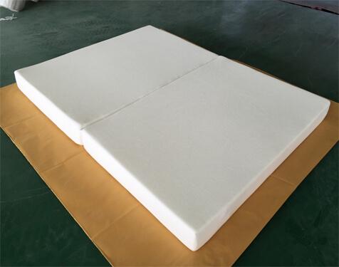 Latex memory foam 2-folding mattress