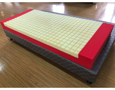 Memory Foam Medical Mattress with shaped cutting