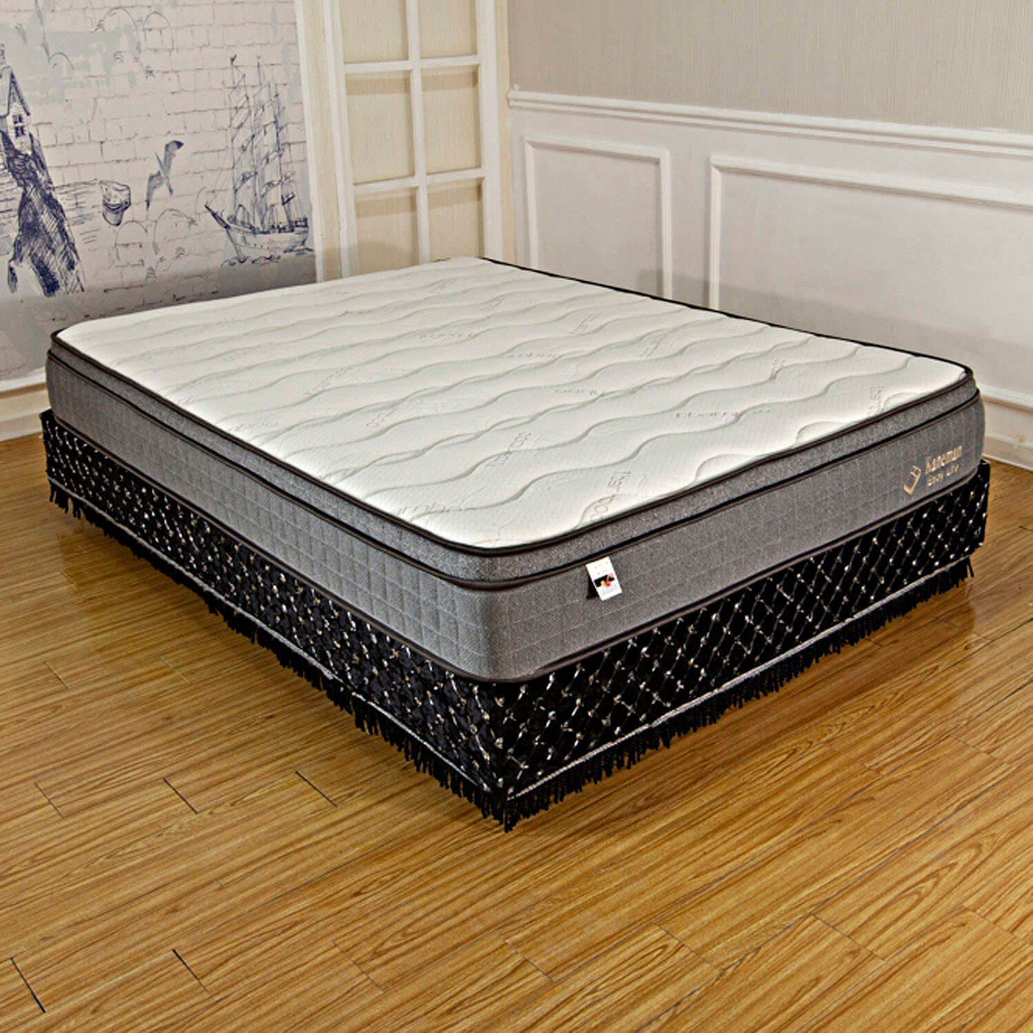 latex foam pocket coil spring mattress